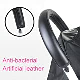 Handle Sleeve Cover for Babyzen YOYO/YOYO+ Strollers, Artificial Leather Black