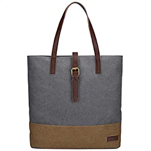 S-ZONE Women's Canvas Tote Lightweight Shoulder Bag Ladies Handbag Shopping Purse