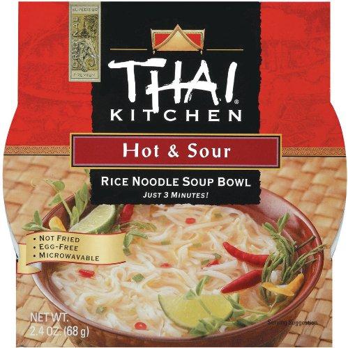 Hot And Sour Soup - Thai Kitchen Hot & Sour Rice Noodle Soup Bowl, 2.4 oz. (Pack of 6)