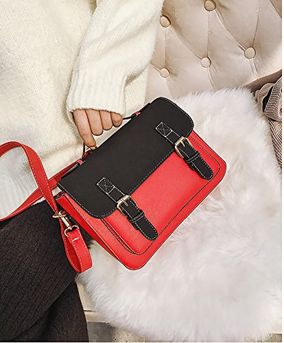 Women's Wild For Leisure Bag Hit Shoulder Package Bags Bags Crossbody Top handle Square Color Girls Totes Red Small UU8qrEwZ
