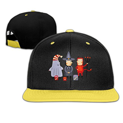 Halloween Kids Boy's & Girl's Outdoor Hip Hop Sun Cotton Snapback Hat (School Appropriate Halloween Movies)