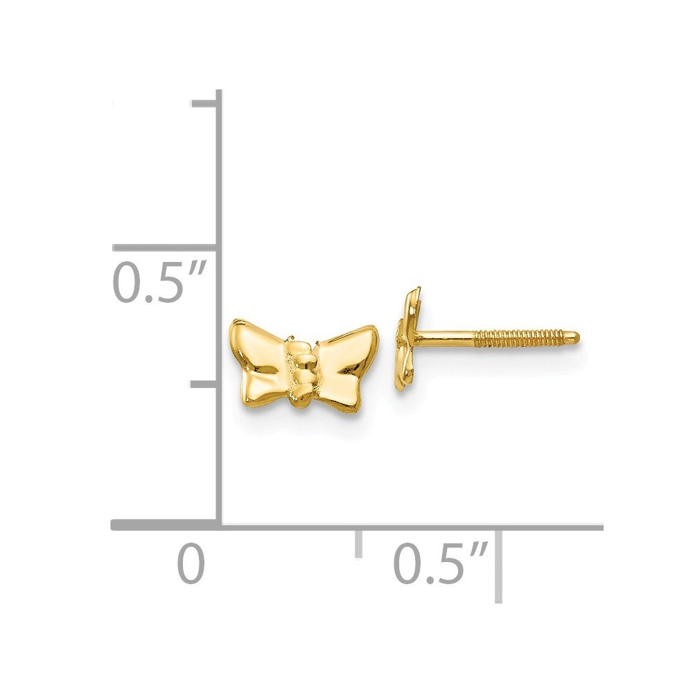 Roy Rose Jewelry 14K Yellow Gold Madi K Butterfly Post Earrings