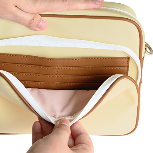 Arden Cove Full Anti-Theft Waterproof Cross-Body Bag (20'' Drop Length, Cream) by Arden Cove (Image #5)