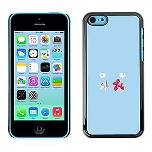 LECELL--Funda protectora / Cubierta / Piel For iPhone 5C -- Origami y globo Amor divertido --