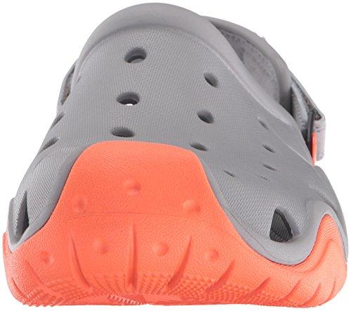 Crocs Heren Swiftwater Verstoppen Rook / Mandarijn
