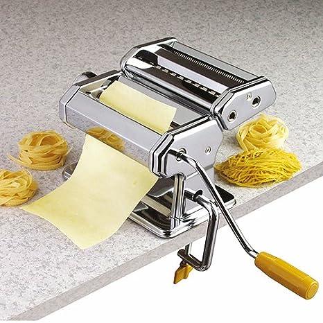 axentia – Máquina manual para hacer pasta casera, pasta maker para lasañas, tallarines, tagliatelles o espaguetis – con 3 rodillos – 9 grosores ...