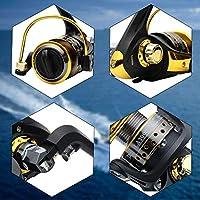 BNTTEAM 7 PAQUETES 2.1 m, 2.4 m, 3.0 m 3.6 m 99% Caña de pescar telescópica de carbono y 12BB Carrete y bolsa de pesca y señuelos y línea, conjunto de caña