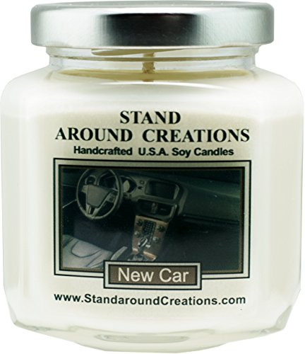 Premium 100% Soy Wax Candle - 6 - oz. Hex Jar- New Car - A Popular Bathroom fragrance. The smell of a new sports car w/ Italian leather seats! (Italian Leather Seat)