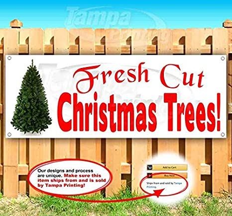 Tremendous Tree Event 13 oz Banner Heavy-Duty Vinyl Single-Sided with Metal Grommets Non-Fabric