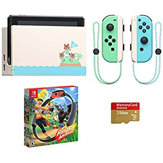 Nintendo Switch - 2020 Special Edition - Animal Crossing: New Horizons - Internal Storage 32GB - Bundle Ring Fit Adventure[Game] & Woov Micro SD 128 GB