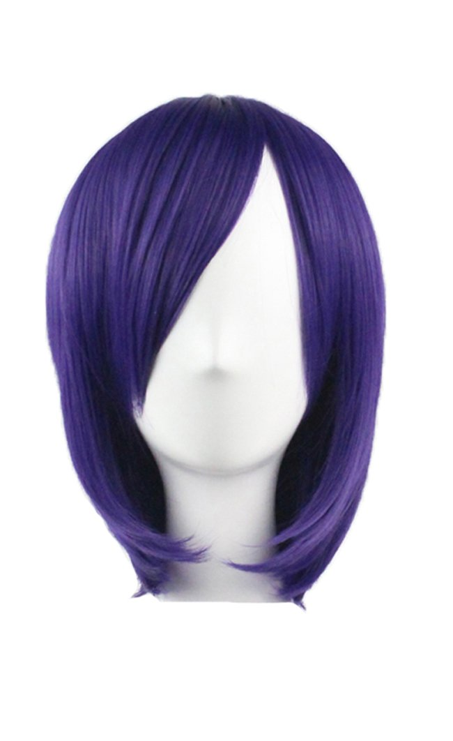 KUPARK 32cm Short Straight Bob Wig Anime Cosplay Costume Party Hair Wigs