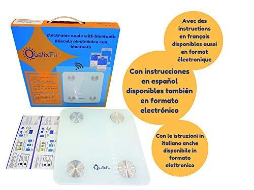 Báscula Análisis Corporal, Bascula de Grasa Corporal, Bascula Digital Bluetooth