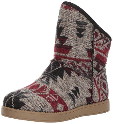 Indigo Rd. Women's Aylee Snow Boot, Grey, 6 M (Plaid Womens Boots)