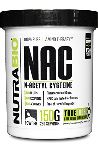 NutraBio 100 Pure N Acetyl Cysteine Powder product image