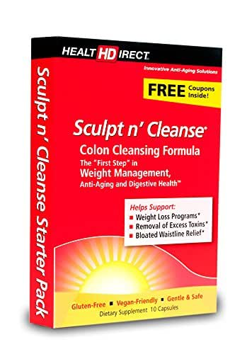 Sculpt n' Cleanse Colon Cleansing Supplement (450 mg, 10 Veggie Capsules) from Health Direct
