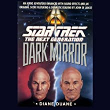 Star Trek, The Next Generation: The Dark Mirror (Adapted) Audiobook by Diane Duane Narrated by John De Lancie