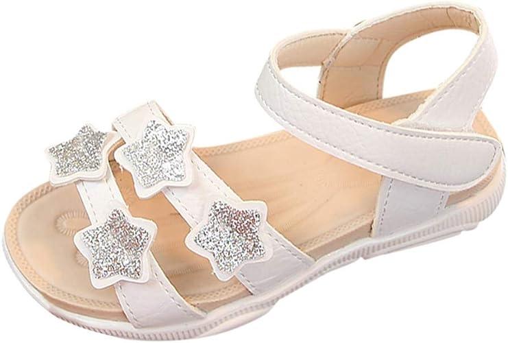 Toddler Enfants Filles Princesse Sandales Anti-dérapant Chaussures Semelle Souple Baby Beach Shoes
