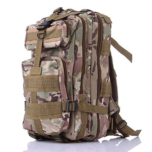 Newdoar Tactical Camouflage Rucksack 35L Armee MOLLE Bug Out Bag Rucksäcke für Bergsteigen Wandern Jagd Camping Trekking Mehrfarbig Camouflage Assault Rucksack CU Camouflage