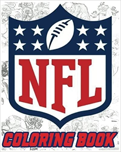 NFL Coloring Book: American Football Sport NFL Art Painting Gray Scale