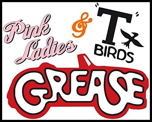 (Pink Ladies & T-Birds - Grease - For Dark-Colored Materials - Iron On Heat Transfer 8.5