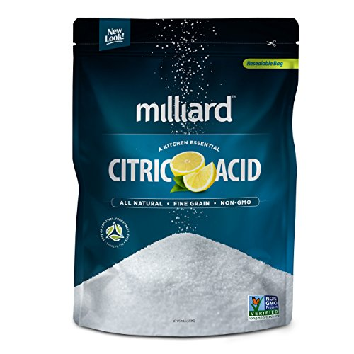 Milliard Citric Acid 10 Pound - 100% Pure Food Grade NON-GMO Project VERIFIED (10 Pound) by Milliard