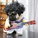 Idepet Pet Halloween Costume Funny Guitar Dog Costume Dressing Up Pet Clothes Suit for Puppy Small Medium Dogs Chihuahua Teddy Pug Christmas Party Halloween Costumes Outfit (Size L)