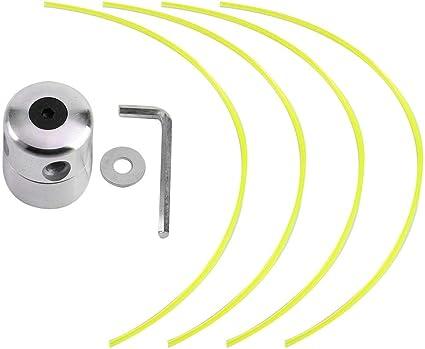 Cabezal de cortacésped universal, de aluminio resistente a la abrasión, para cortacésped
