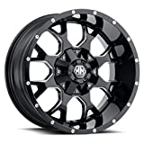 rims for 2015 chevy silverado - Mayhem Warrior 17x9 Black Milled Wheel / Rim 6x4.5 & 6x5.5 with a 18mm Offset and a 78.3 Hub Bore. Partnumber 8015-7992M18