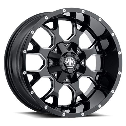 Mayhem Warrior 17 Black Milled Wheel Rim 5x5 Amp 5x5 5