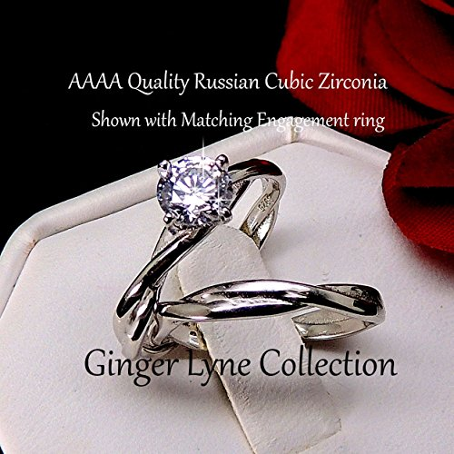 Ginger Lyne Collection Aurora Infinity Twisted Sterling Silver Anniversary Wedding Band Ring by Ginger Lyne Collection (Image #5)