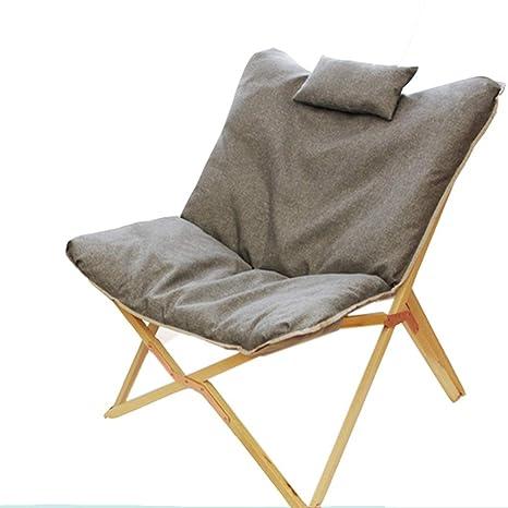 Silla de salón de Madera con sillón cómodo cojín reclinables ...