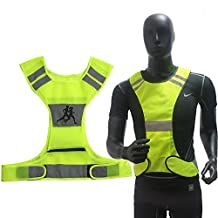 toparchery Unisex High Visibility Safety Reflective Vest + 2 x Armbands Fully Adjustable for Sports Night Running Cycling Riding Motorcycle