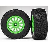 Traxxas Assembled Glued Green Wheels Bfgoodrich Rally Gravel Pattern 2 Tires & Wheels with Tire Foam Inserts