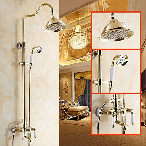15 gold Plated bluee-tiled Hlluya Professional Sink Mixer Tap Kitchen Faucet Rain shower faucet bath 10 black