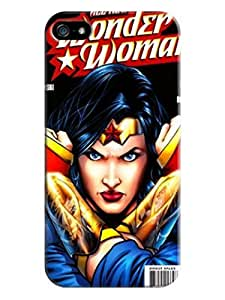 2014 most stylish pattern tpu skin back cover case with texture for iphone 5/5s of Wonder woman in Fashion E-Mall
