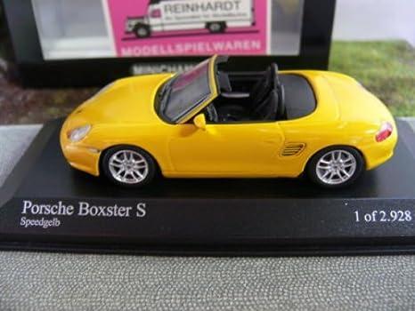 yellow Minichamps 1:43 Porsche Boxster S 2002