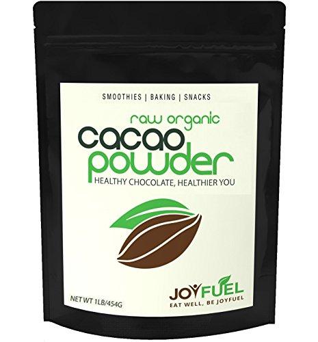 Joyfuel Organic Raw Cacao Powder, Rich Dark Chocolate, 16 Ounce (1 lb) Bag (Gluten Free Cocoa Powder)