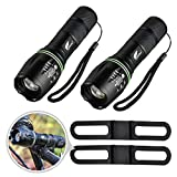 Flashlights, Hausbell Zoomable Portable T6 LED Flashlights 5 Modes for Camping, Hiking, Indoor and Outdoor Use 2 Pack