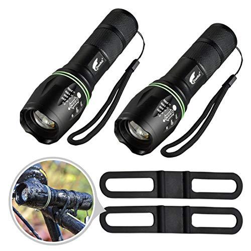 Hausbell flashlight,Tactical Flashlight,LED Handheld Flashlights,Mini LED Flashlight,Zoomable,High Lumen Flashlights,Water Resistant,5 Light Modes Camping Lantern Flashlight for Camping,Hiking