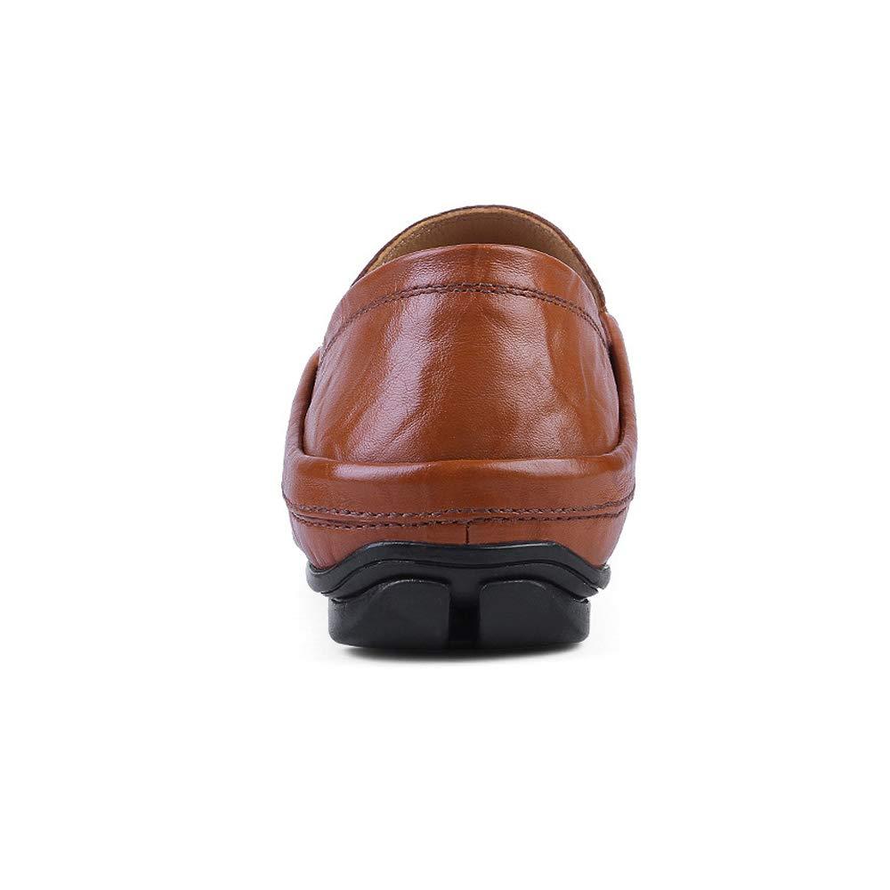 Xiazhi schuhe, Herren Soft Mokassins Wave Sole Fashion Soft Herren und Super Light Slip On Driving Loafer, (Farbe : Braun, Größe : 46 EU) 99ba66