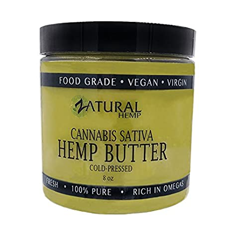 HEMP SEED BUTTER | 100% pure |organic | raw | handcrafted | vegan | therapeutic (1 8oz) Naked Supplements