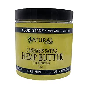 HEMP SEED BUTTER | 100% pure |organic | raw | handcrafted | vegan | therapeutic (1 8oz)