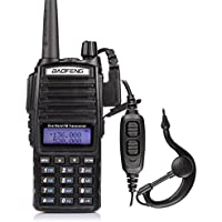 BaoFeng UV-82L Two Way Radio-Dual Band 136-174 MHz (VHF) 400-520 MHz (UHF) Amateur (Ham) Portable Two-Way Radio (Black)