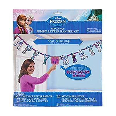 American Greetings Disney Frozen, Add-an-Age Birthday Party Banner: Toys & Games