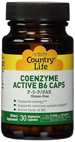 Country Life - Coenzyme Active B-6, 50 mg - 30 Vegetarian Capsules