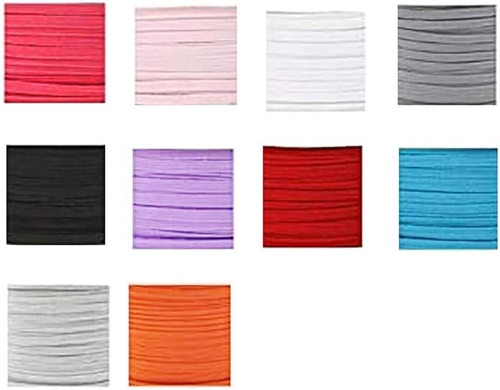 Amazon Com Diy Face Mask Yuuem 10 Colors Diy Elastic Band