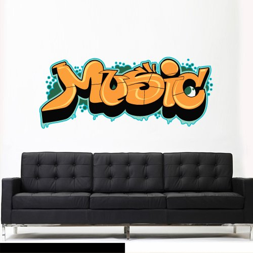 Full Color Wall Decal Mural Sticker Decor Art Poster Gift Kids Nursery Like Painting Graffiti Words Quote Sign Music ()