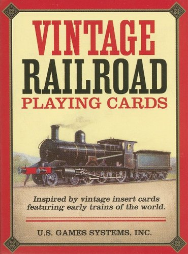 Vintage Railroad Playing Cards (Cards Playing Vintage Deck)