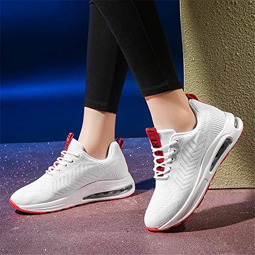 Confortable Augment Casual Chaussures Baskets Blanc Absorbant De Course Air Les Sport Monrinda Cushion Lger Rouge Femmes Amortisseur Yqx7wMFR
