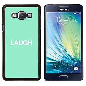 Risa Mint texto minimalista inspirada- Metal de aluminio y de plástico duro Caja del teléfono - Negro - Samsung Galaxy A7 / SM-A700